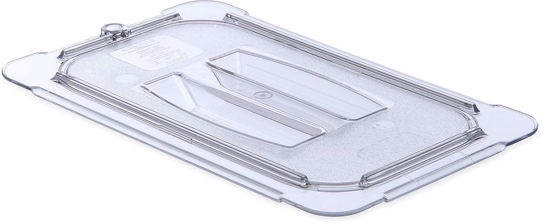 Carlisle 10290U07 StorPlus Quarter Size Polycarbonate Universal Handled Food Pan Lid, Clear