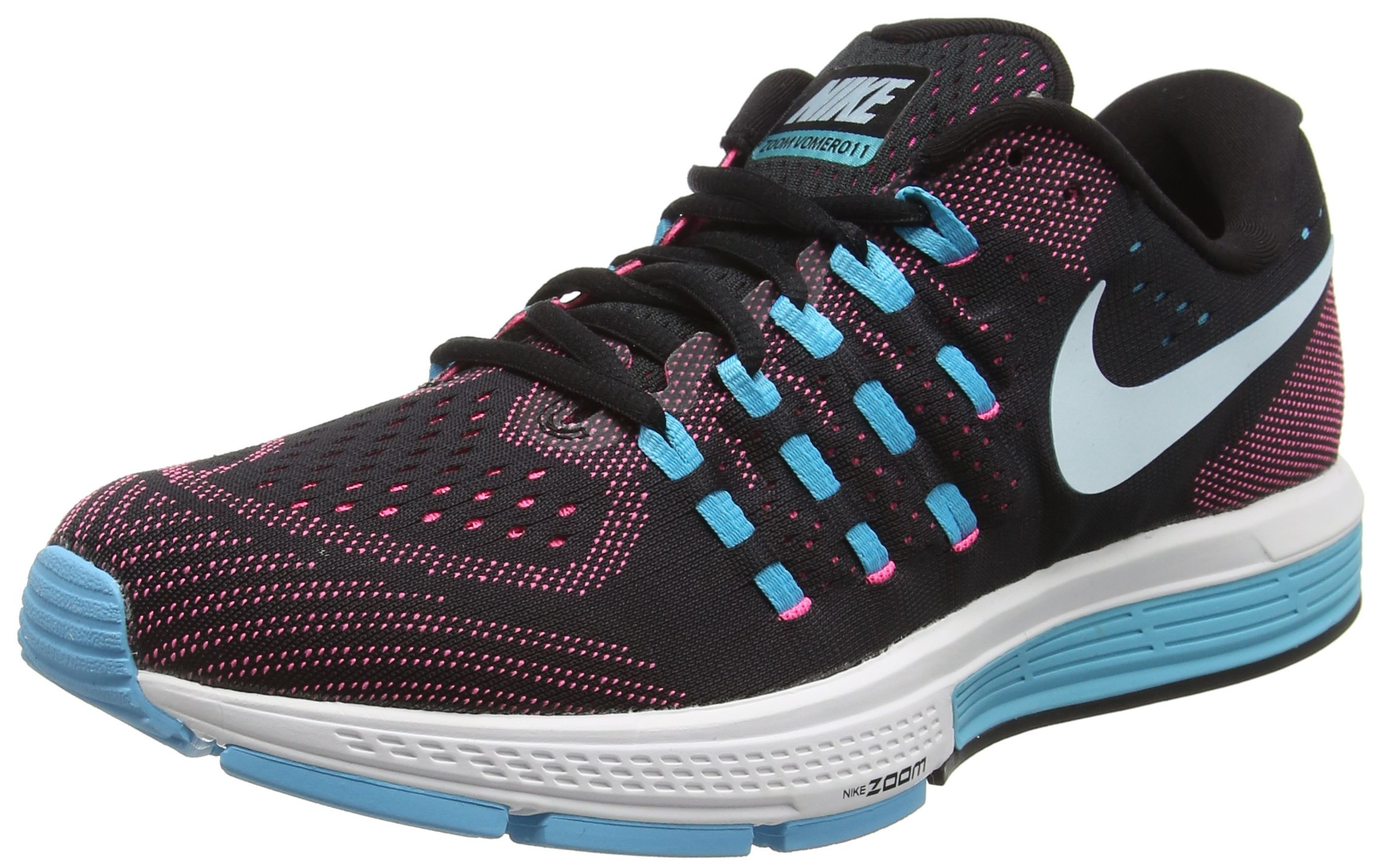 5593cba4d2c5 Nike Womens Air Zoom Vomero 11 Black Glcr Bl Pnk Blst Gmm Bl Running ...