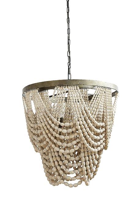 Amazon creative co op da7757 small black metal and wood bead creative co op da7757 small black metal and wood bead chandelier aloadofball Image collections
