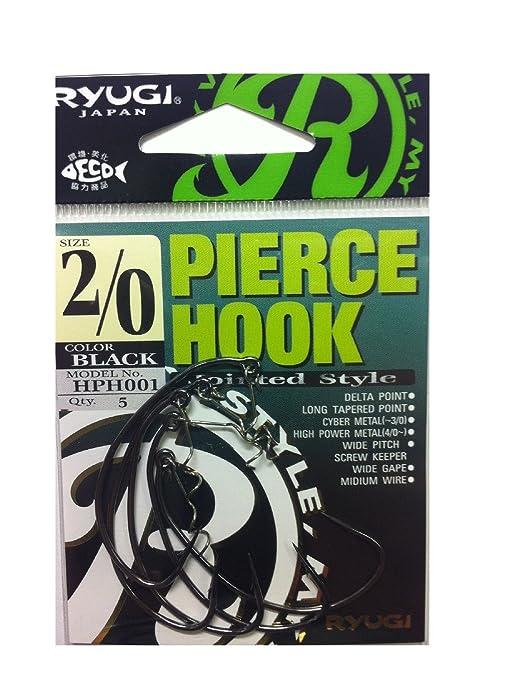 0584 Ryugi HPH001 Pierce Hook Wide Gap Screw Keeper Size 2//0