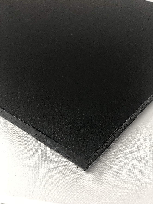 "Black Marine Board HDPE Polyethylene Plastic Sheet 1//2/"" x 27/"" x 48/""  Textured"