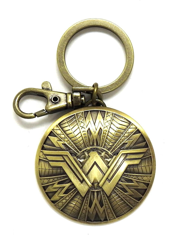 DC Nuevo Wonder Woman Escudo Peltre Clave Anillo