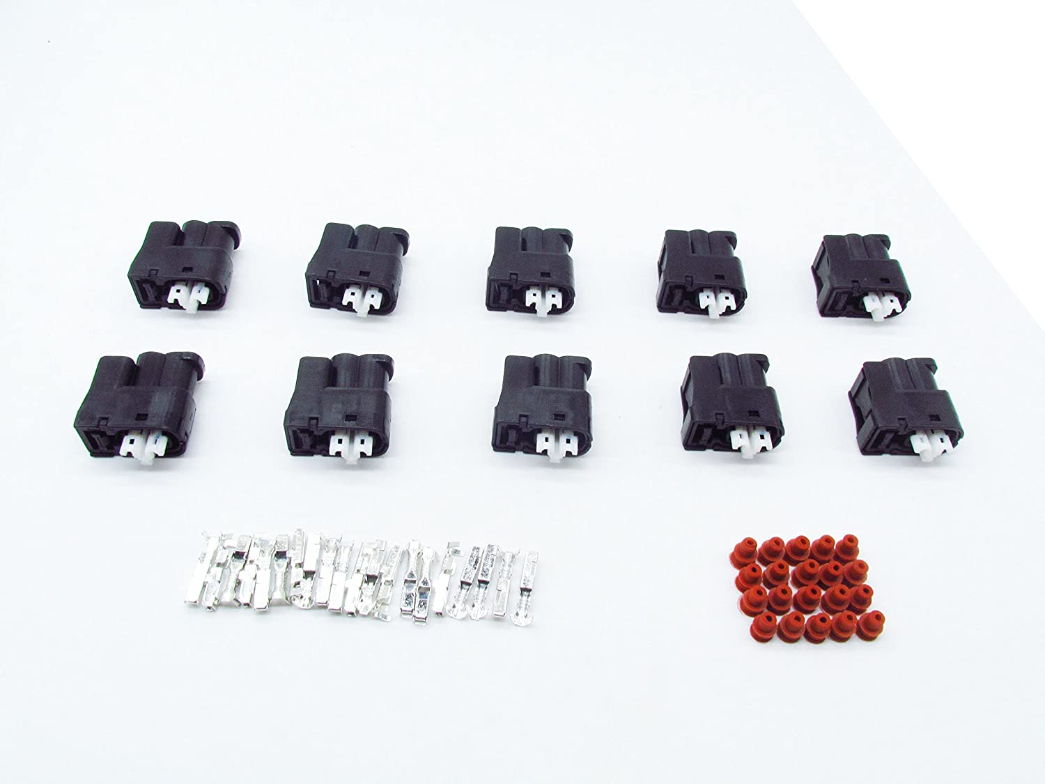 CNKF 10 Sets 2 pin Way Toyota 2JZ-GE Lexus SC300 Auto Connector Bodies Soarer VVTi Supra 7283-8226-30 With Terminals and Seals kaifa elec