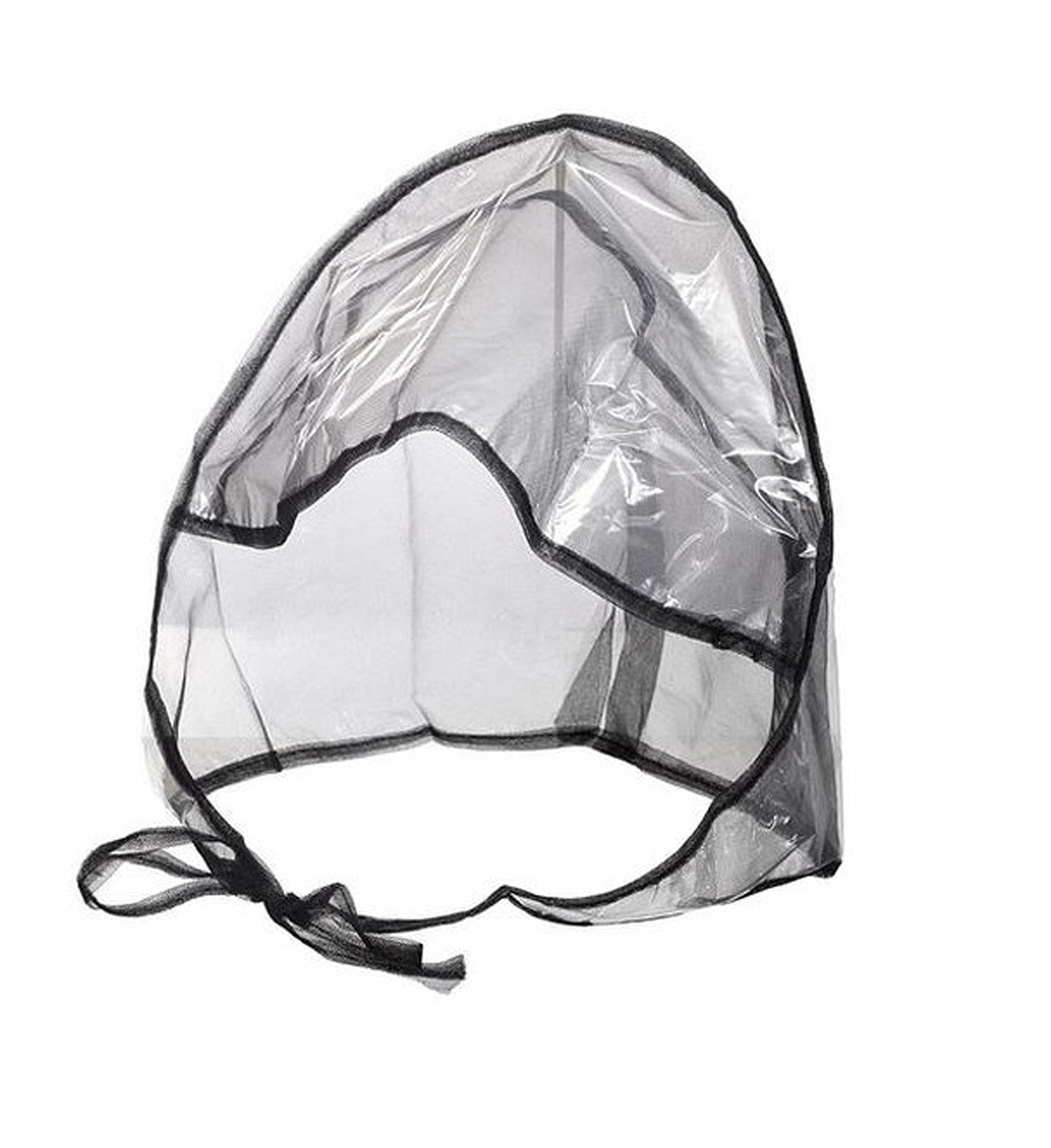 FIT RITE Rain Bonnet with Full Cut Visor & Netting – One Size Fits All (Black) Set of 12