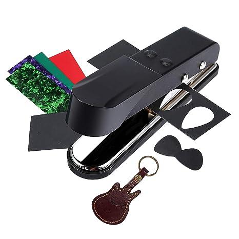 Asmuse™ Plectrum Pick Punch Maker Cortador Perforadora de Púa de Guitarra para Bajo Eléctrica Accesorios
