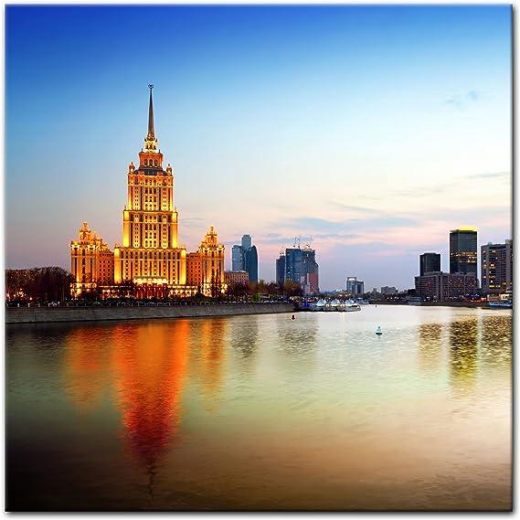 Bilderdepot24 Cuadros en Lienzo Moscú - Rusia - 40 x 40 cm - Listo tensa, Directamente Desde el Fabricante: Amazon.es: Hogar
