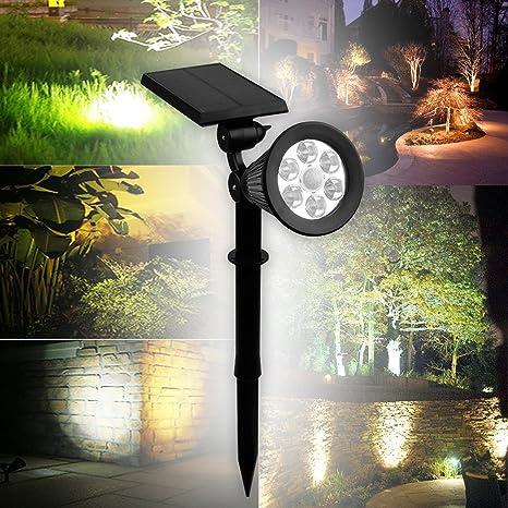 2x Proyector Solar LED Proyector Solar de Iluminación Proyector Blanco Cálido 3ª versión Superhelle Calentador Blanco