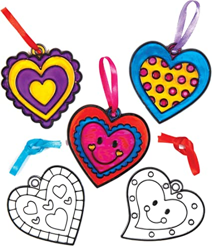 Baker Ross Love Heart Tree Kits for Children to Make and Decorate Pack of 5 Valentines Craft Toy for Kids