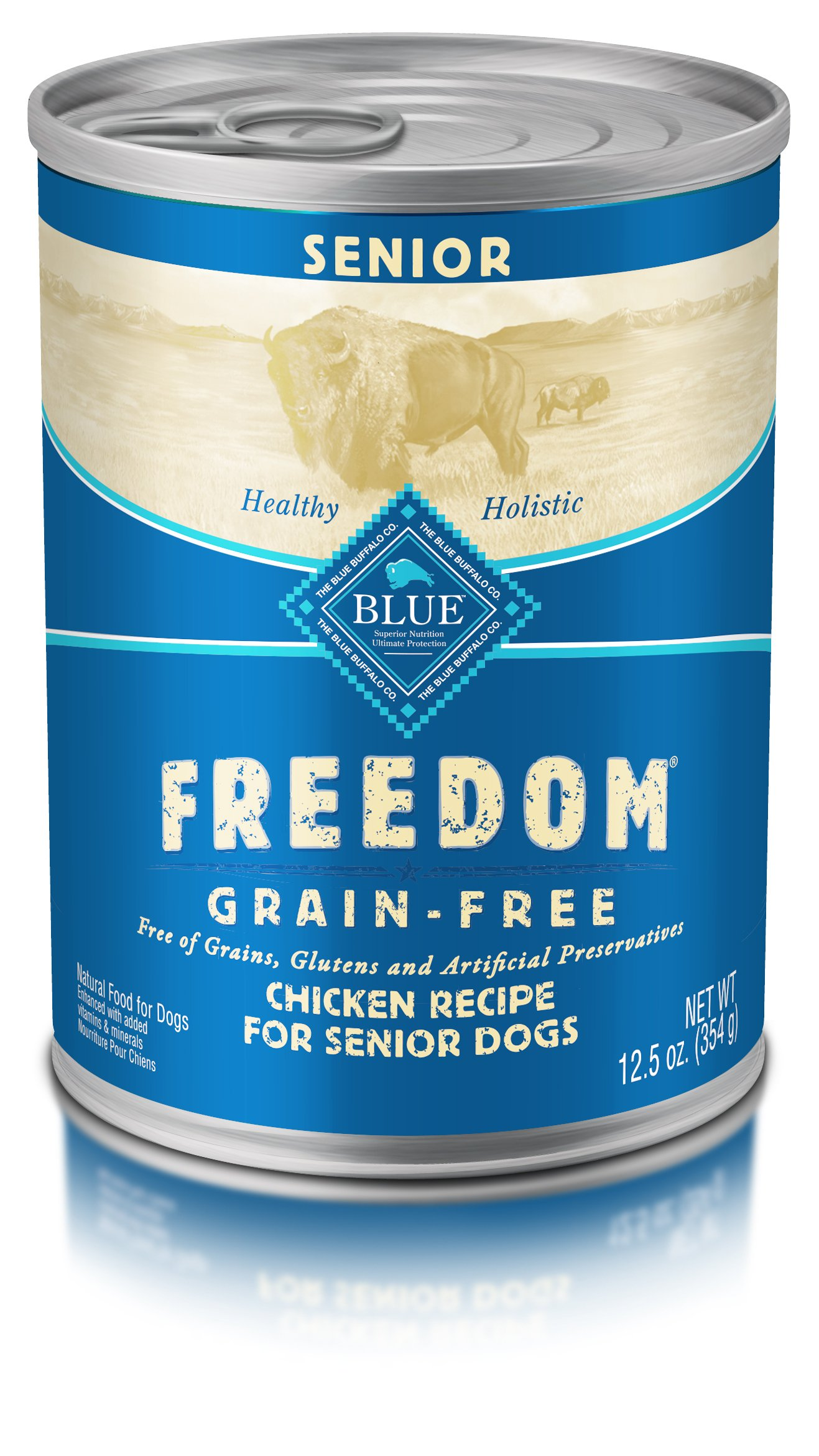 Blue Freedom Senior Grain Free Chicken Wet Dog Food 12.5Oz (Pack Of 12) by BLUE Freedom