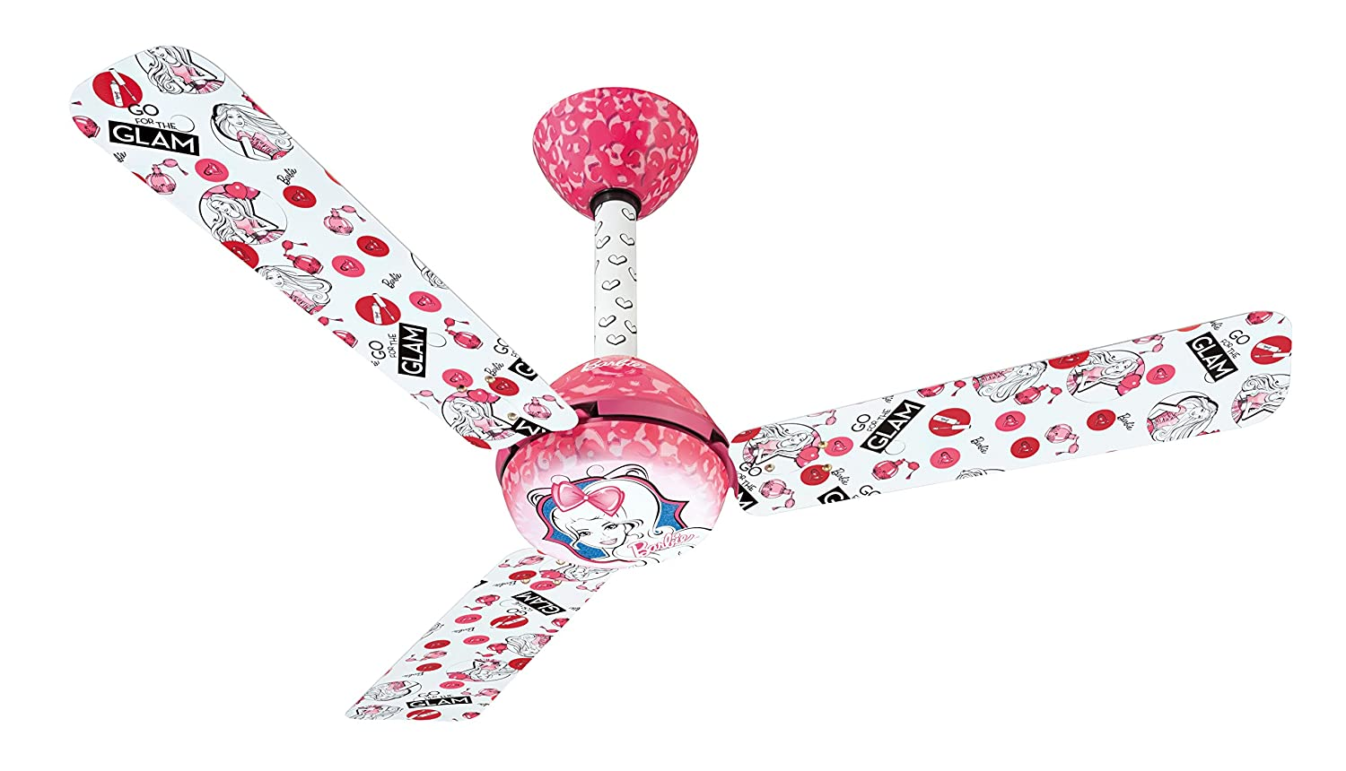 Buy usha kids glam barbie 1200mm 75 watt ceiling fan without buy usha kids glam barbie 1200mm 75 watt ceiling fan without regulator pink online at low prices in india amazon aloadofball Image collections