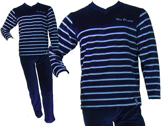 Pijama tundosado (terciopelo) manga larga Hombre