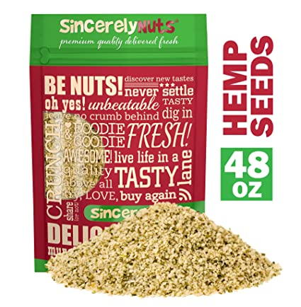 Sincerely Nuts Hulled Hemp Seeds – (3 lb bag) All Natural Super Food | Natures Complete Protein Contains All 9 Essential Amino Acids | Heart Healthy ...