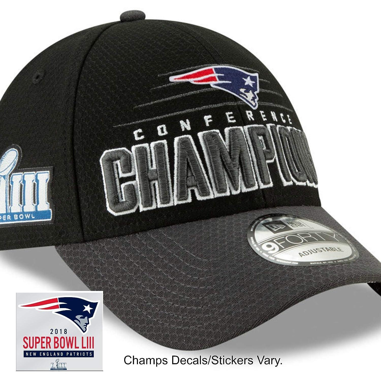 Amazon.com   Official Patriots Men s Super Bowl LIII Conference Champion  Locker Room Hat Cap   Championship Decal Sticker   Sports   Outdoors b2574bffc