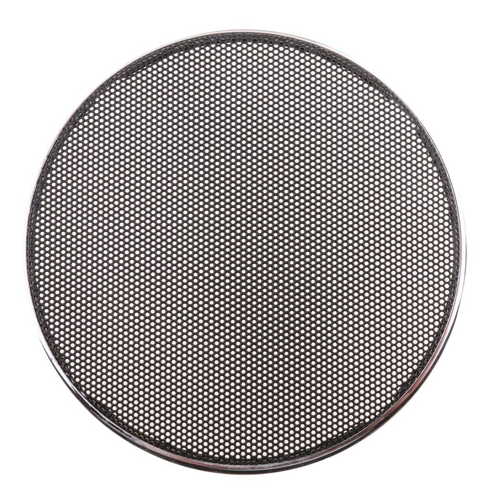Negro 8.5 Pulgadas IPOTCH 1x Protector de Rejilla de Malla Red Compatible con Altavoz Parlante de Negro