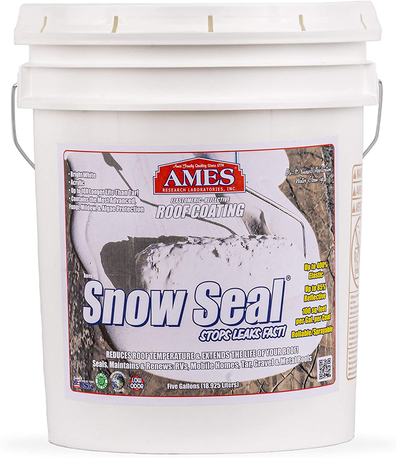Ames Snow Roof Coating, 5 Gallon White