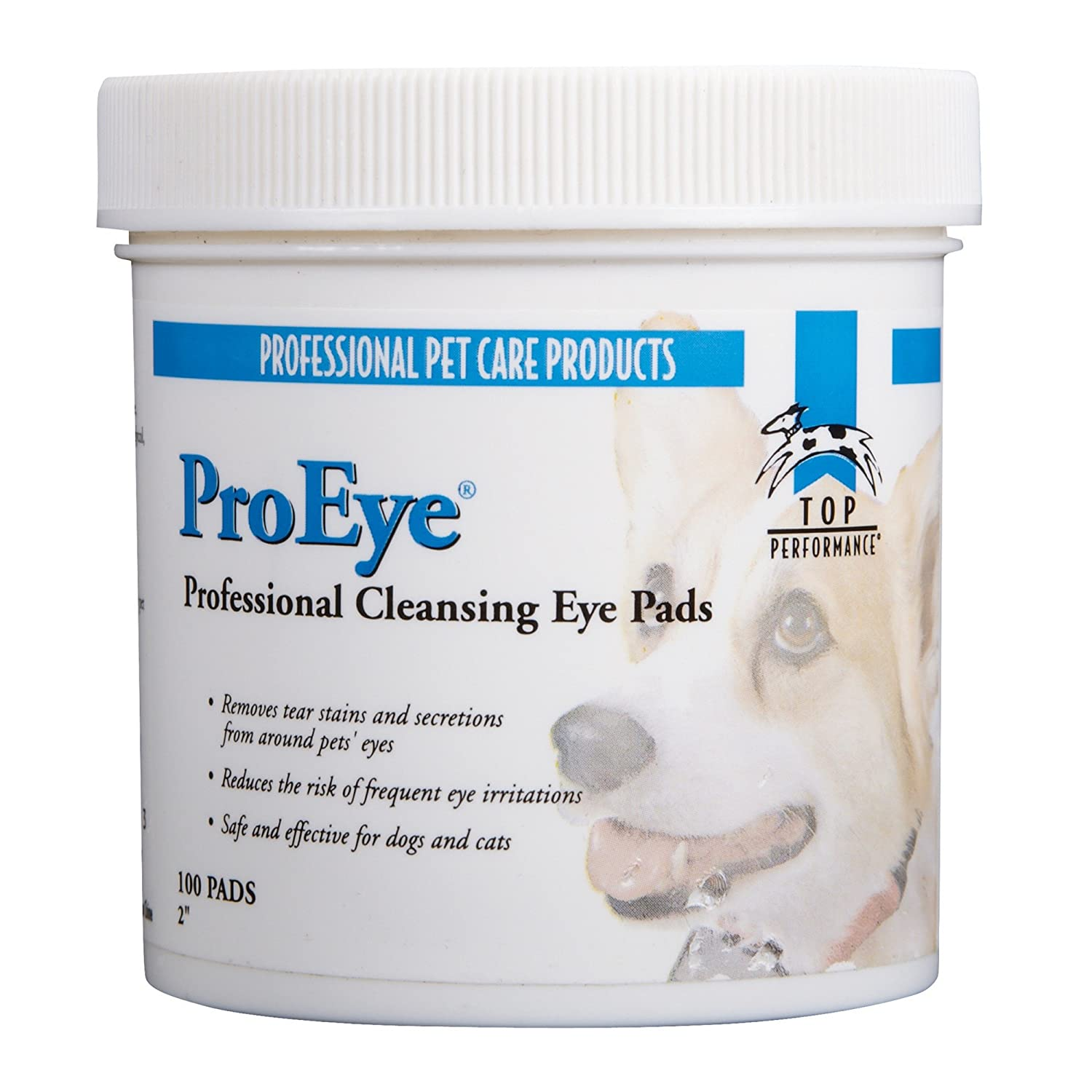 (Eye Pads) Top Performance Cleansing Pads for Pets- Safe and Effective Pads for Cleaning Teeth, Eyes, Ears