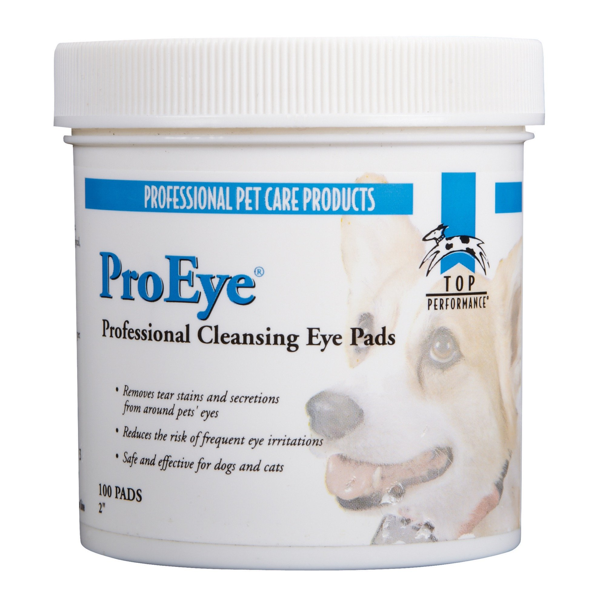 Top Performance ProEye Cleansing Pads — Safe and Effective Pads for Cleaning Around Pets' Eyes, 100-Pack