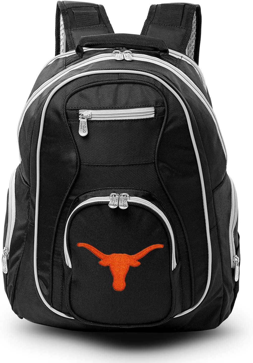 NCAA Colored Trim Premium Laptop Backpack, Measures 19-inches, Everyday Sports Backpack with Padded Shoulder Straps, Ideal for Travel, School, College, Business