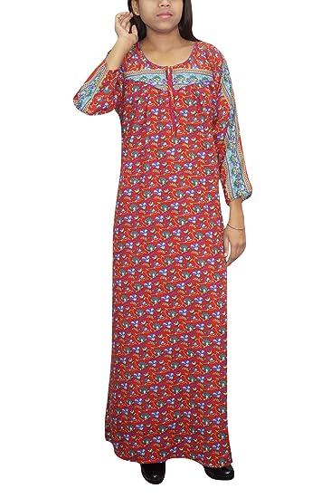 Indiatrendzs Women Nightdress Woolen Printed Purple Long Nighty XXL  Amazon. in  Clothing   Accessories 3b356babd