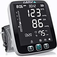 [All New 2020] Blood Pressure Monitor by LAZLE: Automatic Upper Arm Machine & Digital BP Cuff Kit - Largest Display…