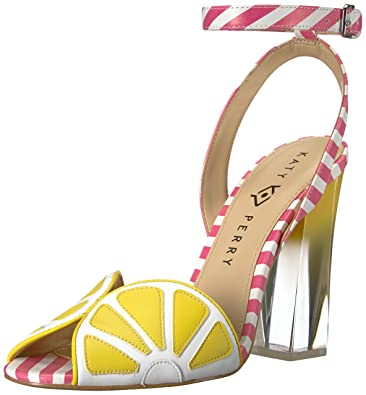 53949386aaa3 Katy Perry Women's The Citron Heeled Sandal, Yellow/Pink/White, 5 Medium