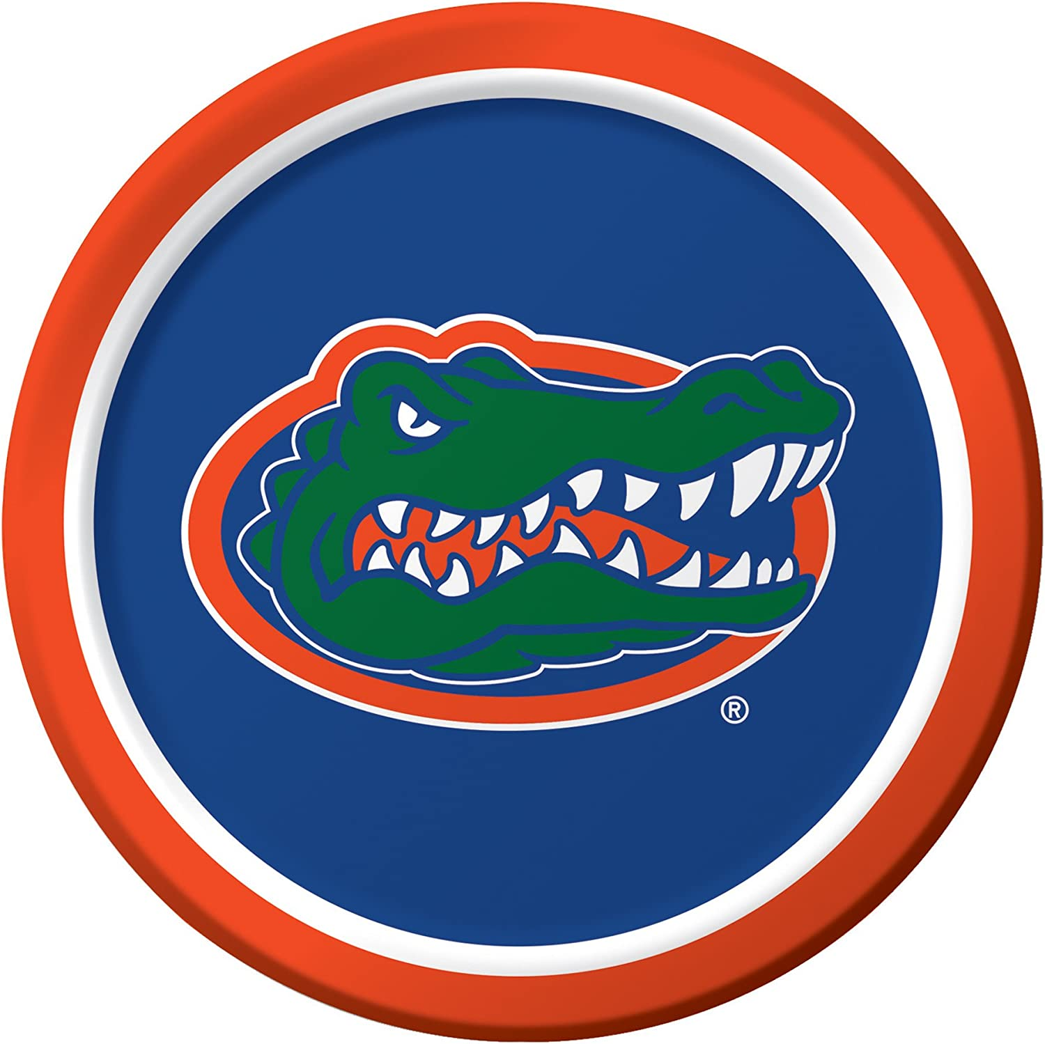 8-Count Sturdy Style Paper Dinner Plates, University of Florida