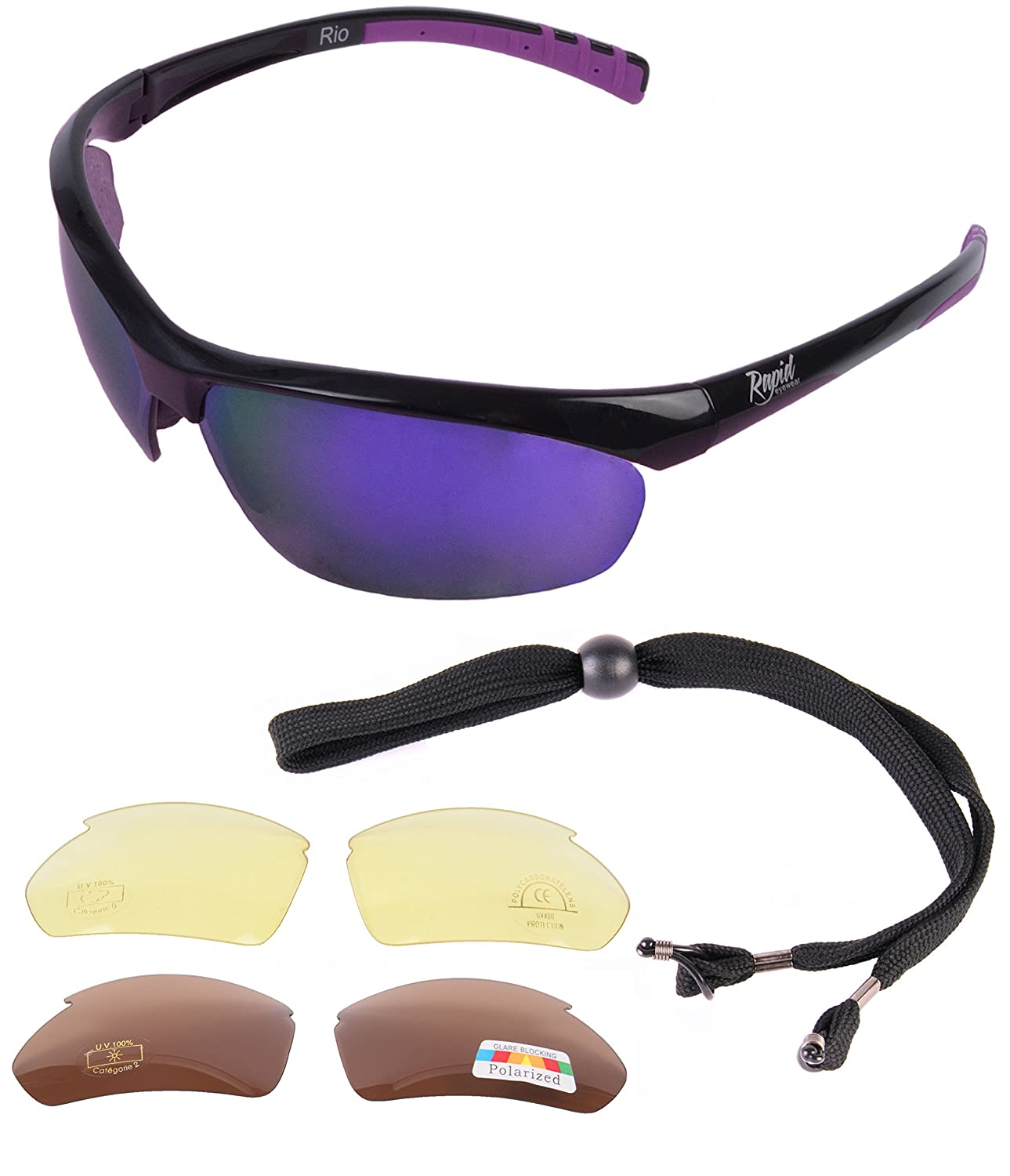 a21355b3d809 Rapid Eyewear Rio UV400 SPORTS SUNGLASSES For Women