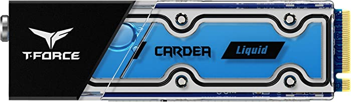 TEAMGROUP T-Foce CARDEA Liquid 1TB Water Cooling Heatsink NVMe Gen3x4 PCIe M.2 2280 Gaming Solid State Drive SSD TM8FP5001T0C119 (Read/Write Speed up to 3,400/3,000 MB/s)