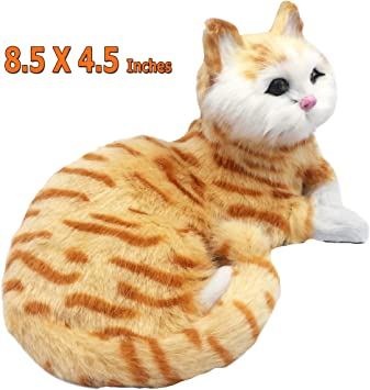 Realistic American Wirehair Resin Cat Statues Home Desk Decoration Animal Figure