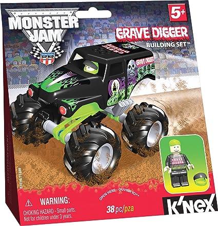 Amazon Knex Monster Jam Grave Digger Toys Games