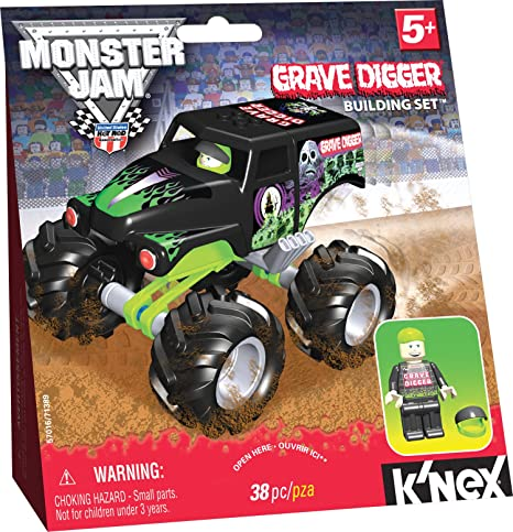 Amazon Knex Monster Jam Grave Digger Toys Games