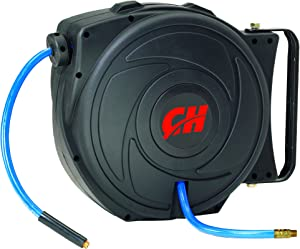 Campbell Hausfeld Air Hose Reel with Retractable 50 Foot Air Hose (AA602100)