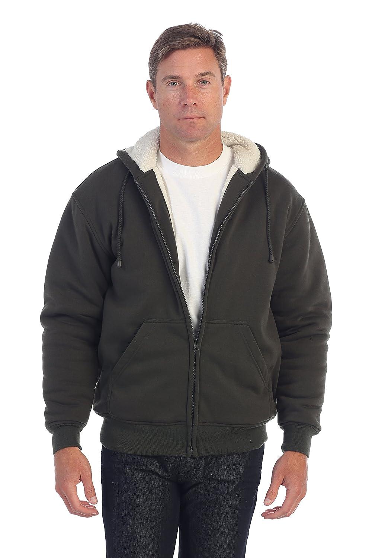 Gioberti Mens Sherpa Lined Pull Zip Fleece Hoodie Jacket China FH96