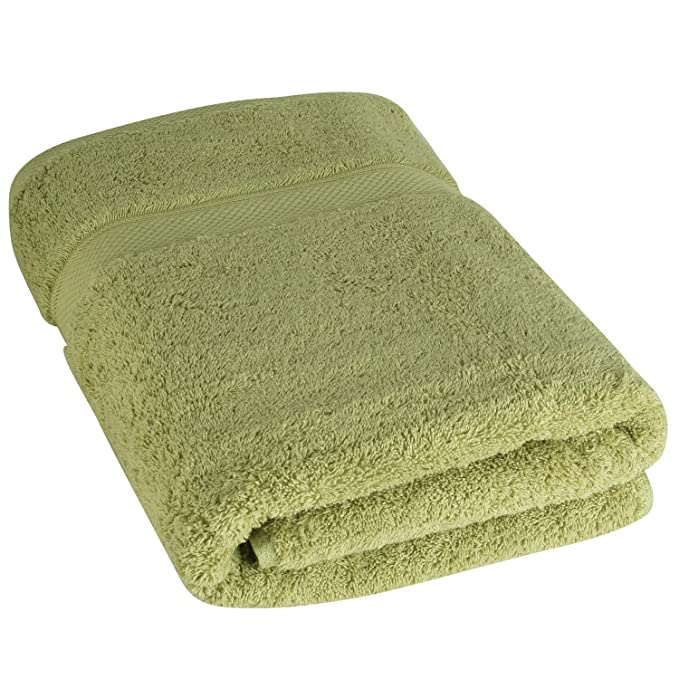 Amazon.com: Luxury Bath Towels By Cozy Homery - Green - 100% Organic Natural Egyptian Cotton 650 GSM - Multipurpose Use for Bathroom, pool, ...