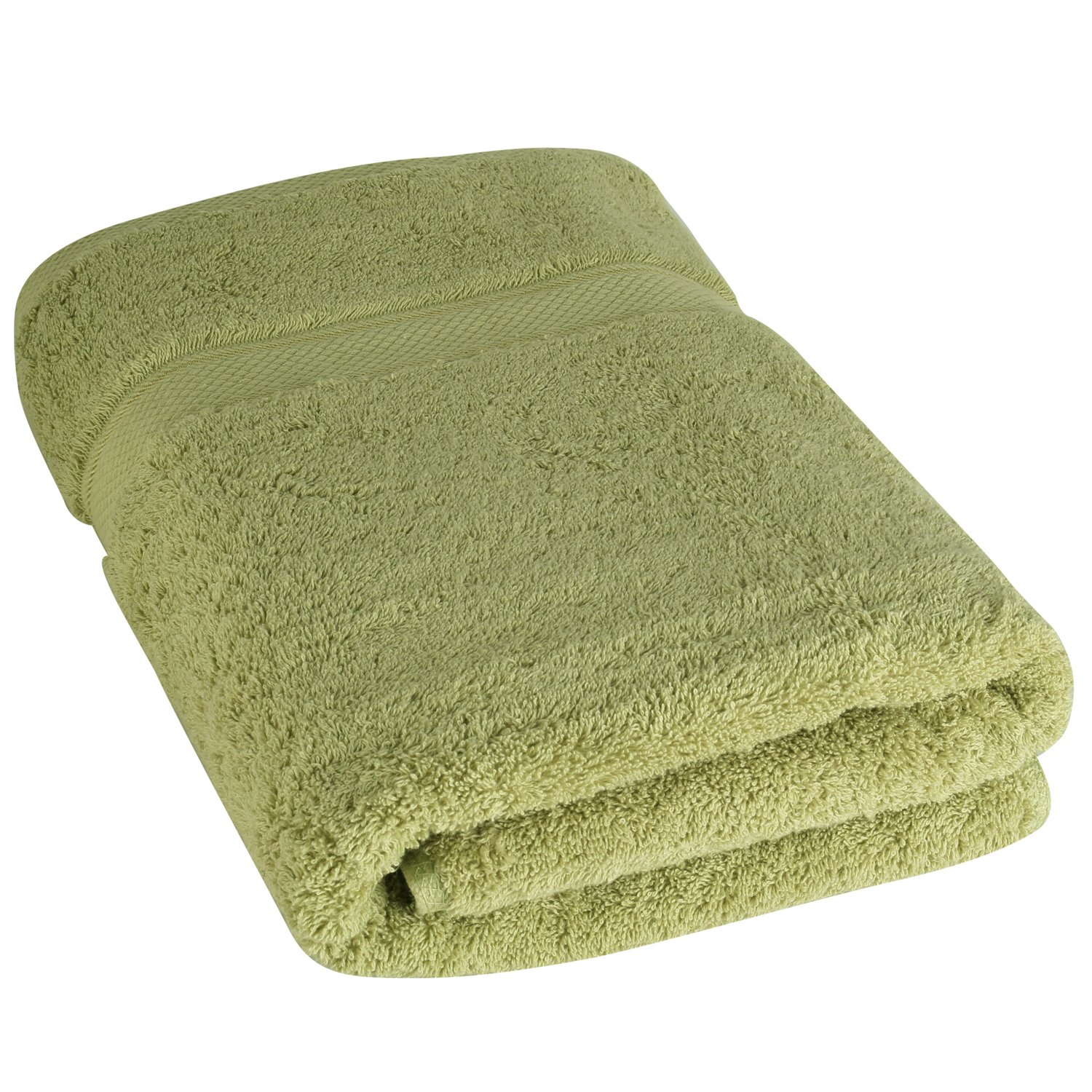 Luxury Bath Towels By Cozy Homery - Green - 100% Organic Natural Egyptian Cotton 650 GSM - Multipurpose Use for Bathroom, pool, Gym and Spa