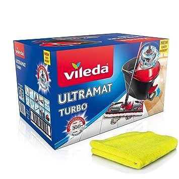 Vileda Ultramat Turbo Juego completo, mopa y cubo con Power + centrifugado extra de microfibra paños de limpieza: Amazon.es: Salud y cuidado personal