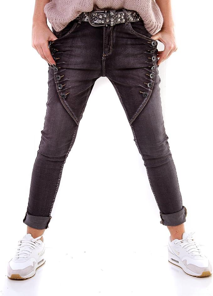 Lexxury Damen Jeans-Hose trendige Camouflage Jeanshose Hose  Army-Look L7101