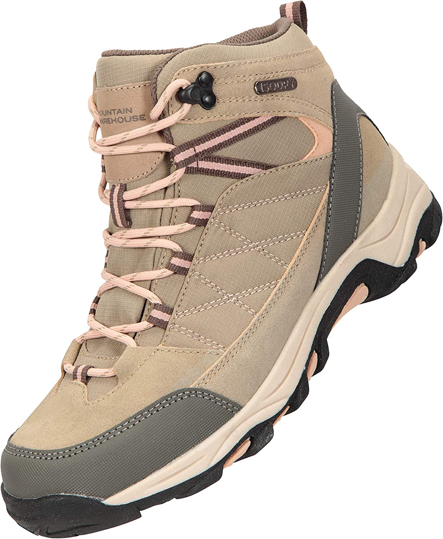 Zapatos duraderos Mountain Warehouse Botas Impermeables Rapid para Mujer Botas de Suela de Goma para Damas Zapatos para Caminar Superiores de Gamuza y Malla