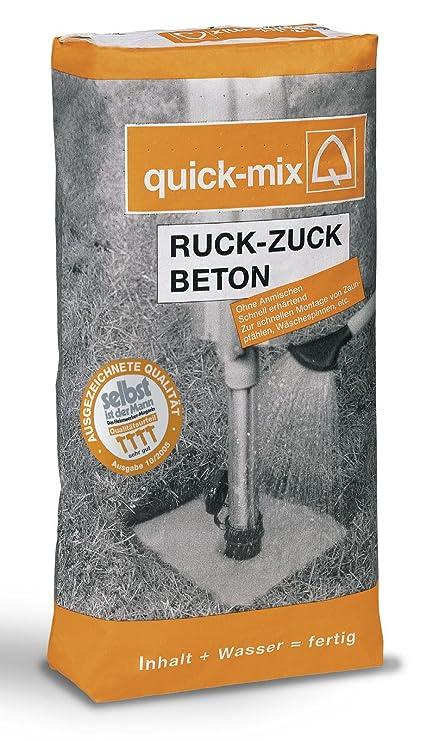 Quick Mix Ruck Zuck Beton 25 Kg Amazonde Baumarkt