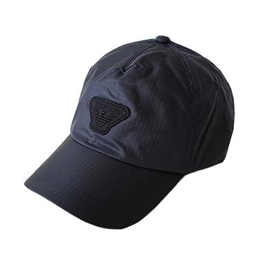 d3ecf65ea24 Armani Jeans Homme Carreaux Casquette Baseball Casquette de Golf - Bleu  Foncé