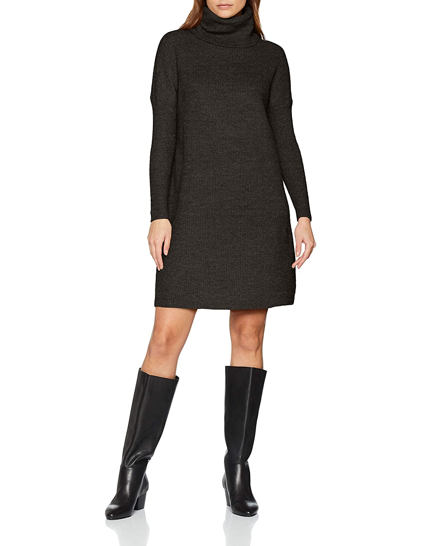 TALLA 36 (Talla del fabricante: X-Small). Only Onljana L/S Cowlneck Dress Wool Knt Vestido para Mujer Gris (Dark Grey Melange Dark Grey Melange) 36 (Talla del fabricante: X-Small)