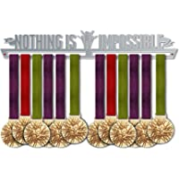 Nothing Is Impossible Medal Hanger Display V2 | Motivational Medal Hanger | Stainless Steel Medal Display | by VictoryHangers - The Best Gift For Champions !