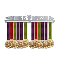 Nothing Is Impossible Medal Hanger Display V2   Motivational Medal Hanger   Stainless Steel Medal Display   by VictoryHangers - The Best Gift For Champions !