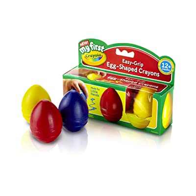 Crayola My First Egg Crayons, Easy-Grip: Toys & Games