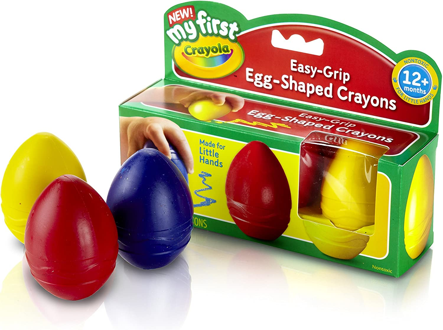 Crayola My First Egg Crayons, Easy-Grip