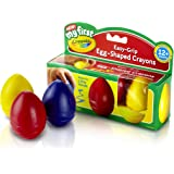 Crayola My First Crayola Scribbled Egg Crayons, Easy-Grip (1-Pack of 3)