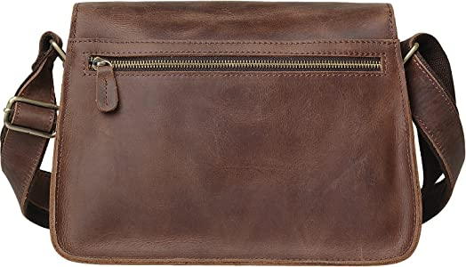 b4454b50b4c3 Jack Chris Genuine Leather Crossbody bag Handbag Satchel Shoulder ...