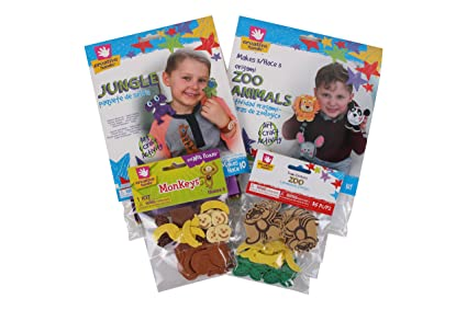 Amazon Com Creative Hands Zoo Animal Craft Kit Arts And Crafts
