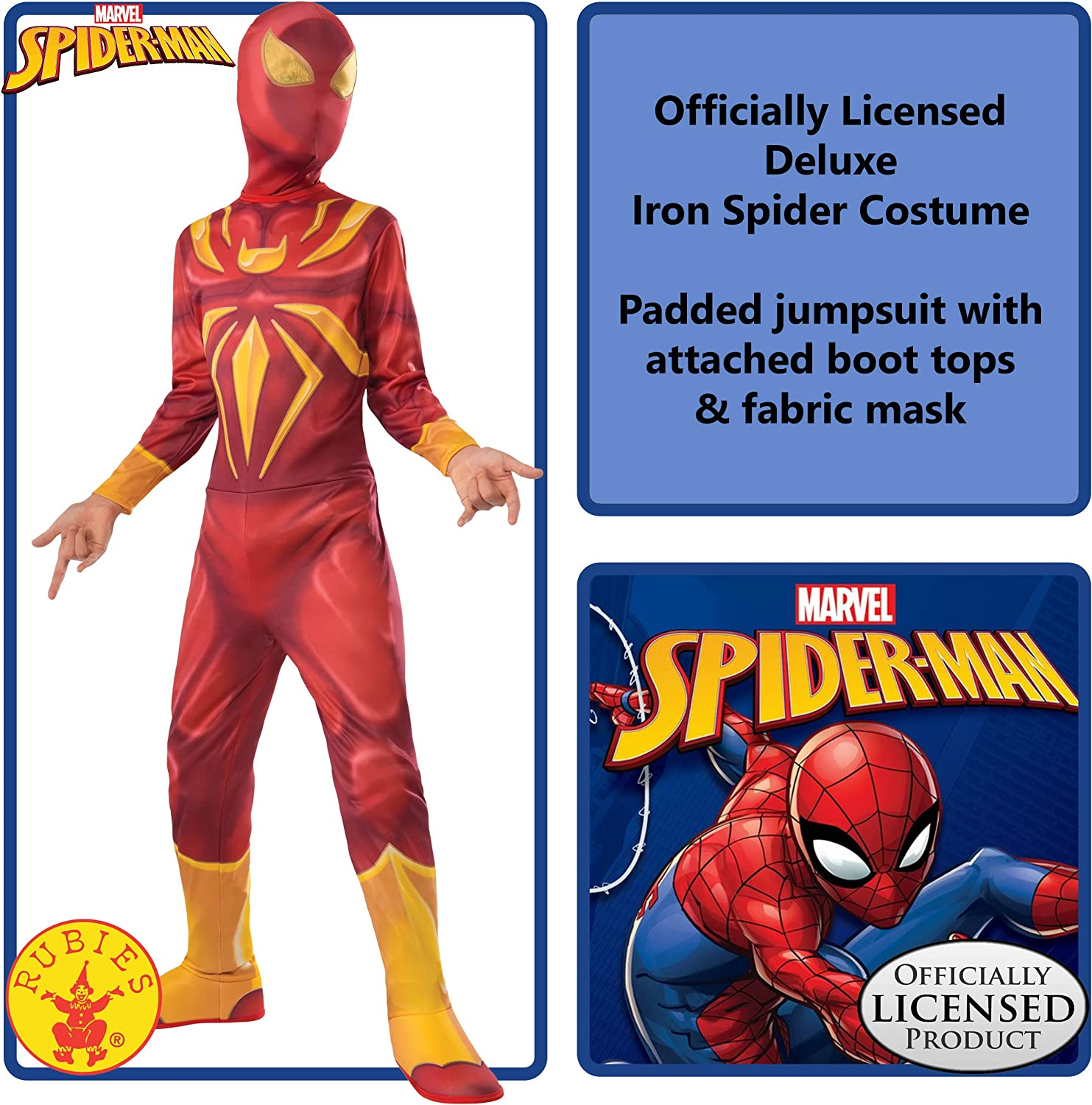 Ultimate Spider-Man Iron Spider Child Costumes 2 COSTUMES Rubies 620525 NEW