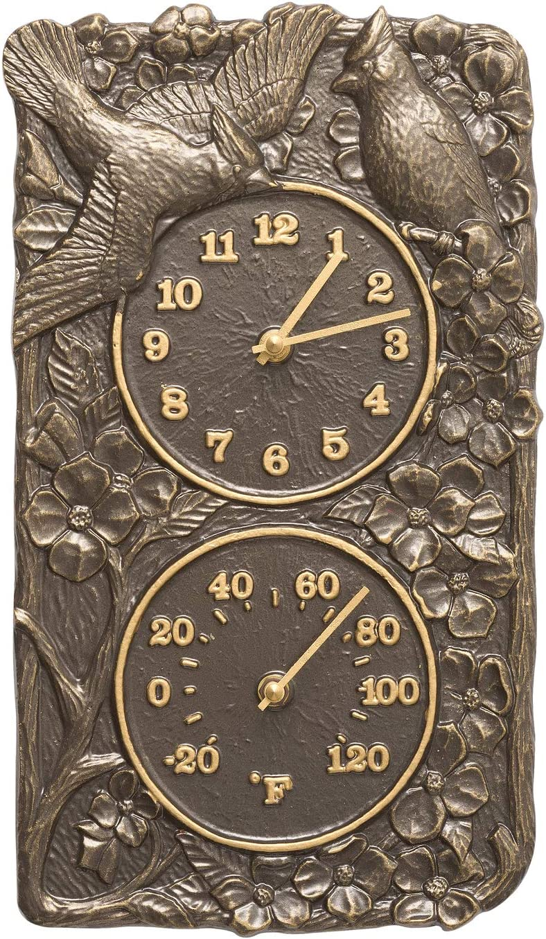 A picture of Whitehall Products Cardinal Combo Clock to better look into Best outdoor clocks 2020